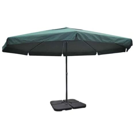 Aluminium Umbrella with Portable Base Green QAH15469