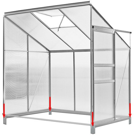 Aluminum Side Greenhouse with Window Steel Foundation