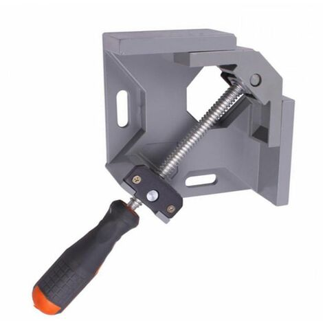 """main image of """"Aluminum single handle 90 degree right angle clamp angle clamp woodworking frame Clip right angle backrest tool WASHING"""""""