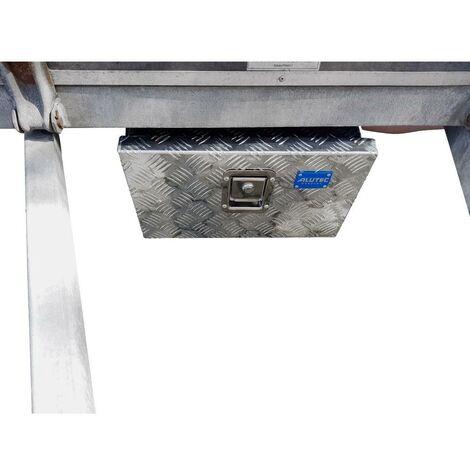 Alutec TRUCK 23 41023 Cassa in lamiera bugnata Alluminio (L x L x A) 425 x 265 x 260 mm
