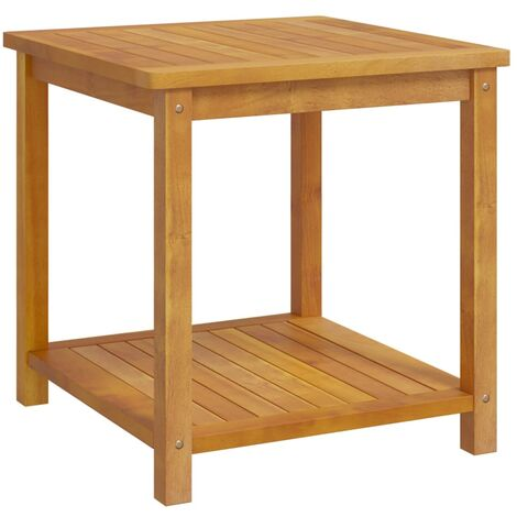 Alvina Solid Acacia Wood Side Table by Brayden Studio - Brown