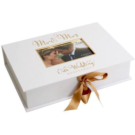Always & Forever' Gold Foil A4 Keepsake Box Mr & Mrs (6/9)