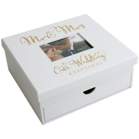 Always & Forever' Gold Foil Keepsake Box with Drawers