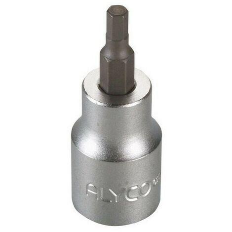 """main image of """"ALYCO 192409 - 1/2 UNE 16503 DIN 3121 Cr V chromé mat clé à douille Allen conseils 9x62mm"""""""