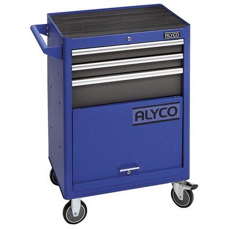 "main image of ""ALYCO 192700 - Carro movil de 3 cajones y almacen inferior ALYPLUS 680 x 460 x 1000 mm 60 Kg"""