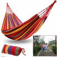 Amaca da giardino singola colorata sacca cotone campeggio tenda tessuto 190 x 80