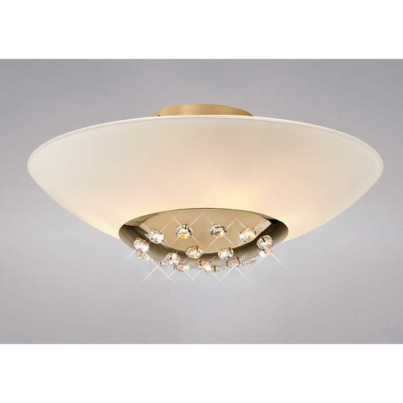 Image of Amada ceiling light 6 bulbs gold / frosted glass