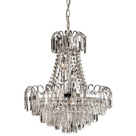Amadis 6lt pendant 40W - clear faceted glass