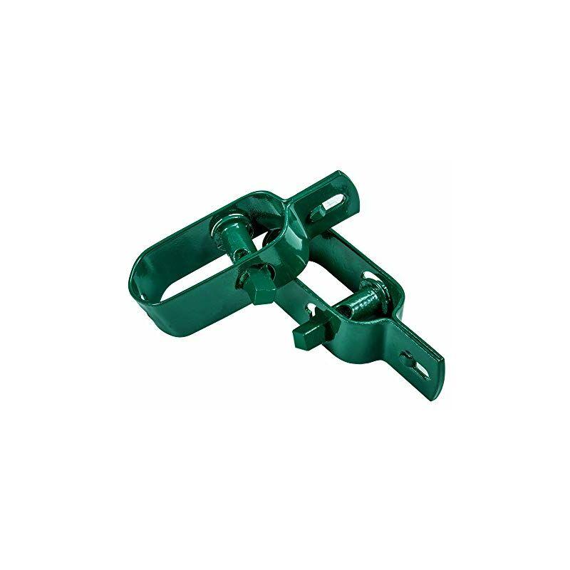 Lot de 10 Tendeur de Clôture Tendeurs à Fil Barbelé 4# Longeur 120mm Raidisseur Acier Connecteurs Zingués et Revêtus de Plastique Vert Kit de Tendeur