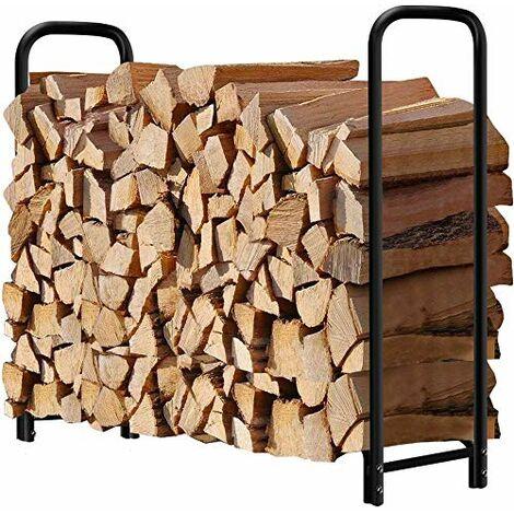 Amagabeli, Support à Bois de Chauffage 1,2m Long, Porte-bûches de cheminée ,de Chauffage Support de Stockage de Bois ,de Chauffage Support de Journal de cheminée