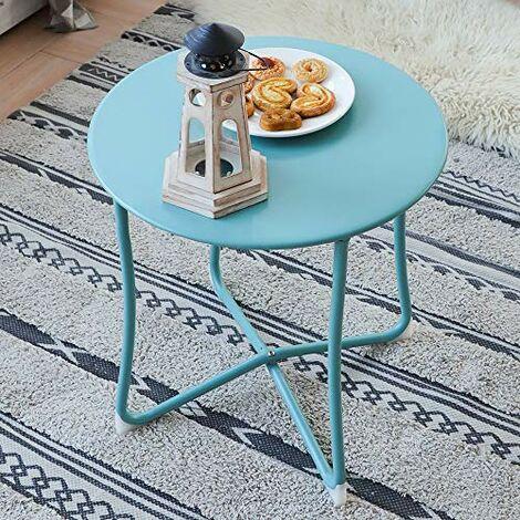 Amagabeli Table basse Tables d'appoint Table en métal pour le café Tablette Divan Petit déjeuner Cuisine Desserte Plateau Table Ordinateur portable Table de patio