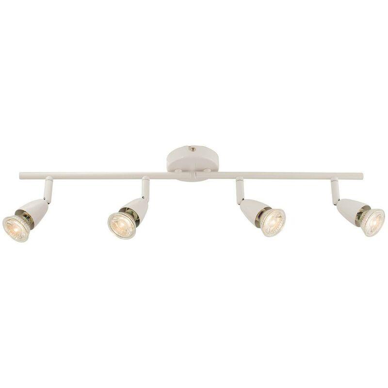 Image of Endon - Adjustable 4 Light Spotlight Gloss White, GU10 - ENDON DIRECTORY LIGHTING