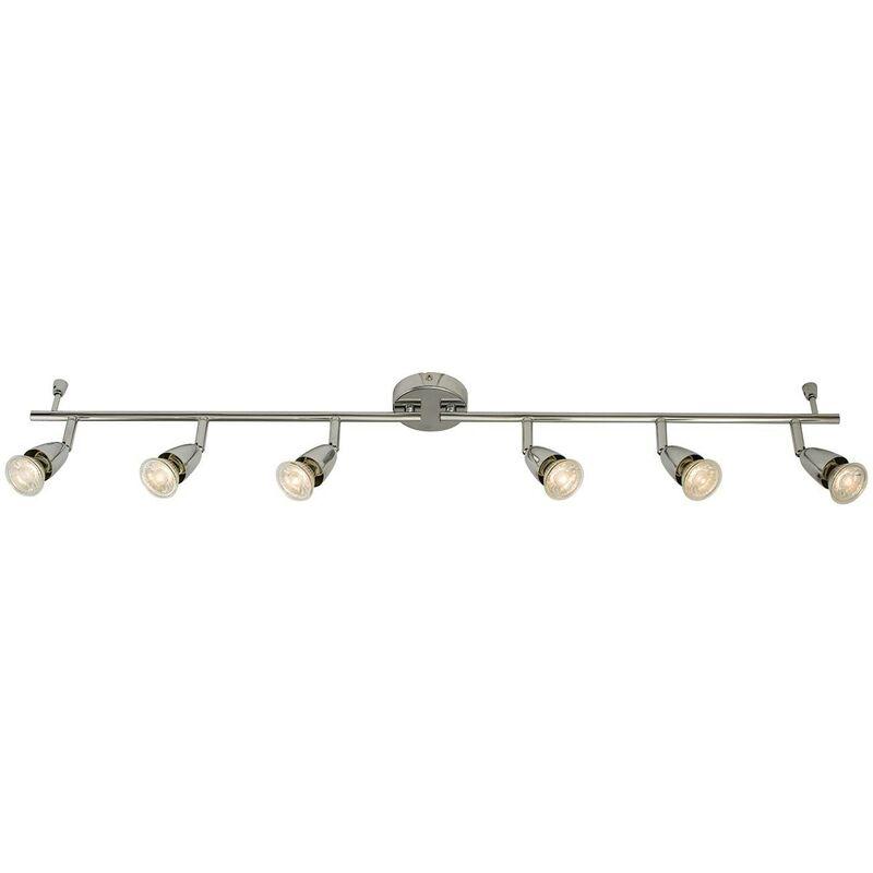 Image of Endon - Adjustable 6 Light Spotlight Chrome, GU10 - ENDON DIRECTORY LIGHTING