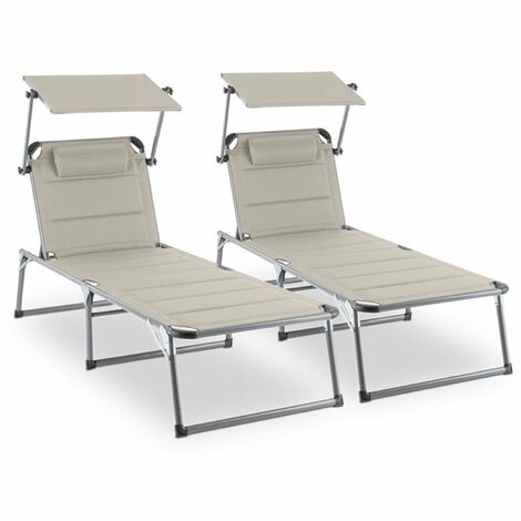 """main image of """"Amalfi Noble Beige Sunlounger set of 2 upholstery steel pipe beige"""""""