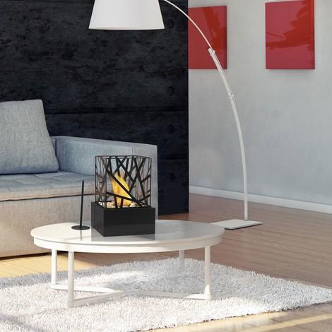 Amaltea B une cheminée bioéthanol de table moderne et design.