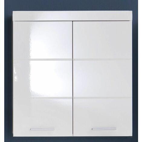 """main image of """"AMANDA - Meuble haut salle de bain mélaminé blanc. L - H - P : 73   77   23 cm - Blanc"""""""