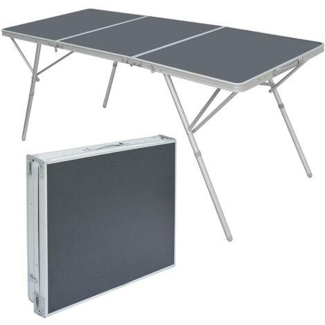Tavolo Da Campeggio Alluminio.Amanka Grande Tavolo Da Campeggio Xxl 180x70x70cm Tavolino Da