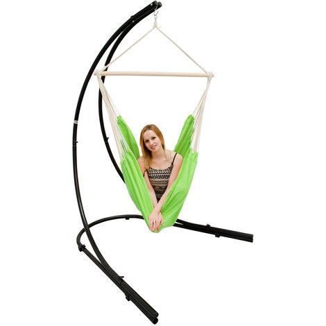 AMANKA Support Hamac 210cm avec Chaise Suspendu XXL Fauteuil Pivotant 360°