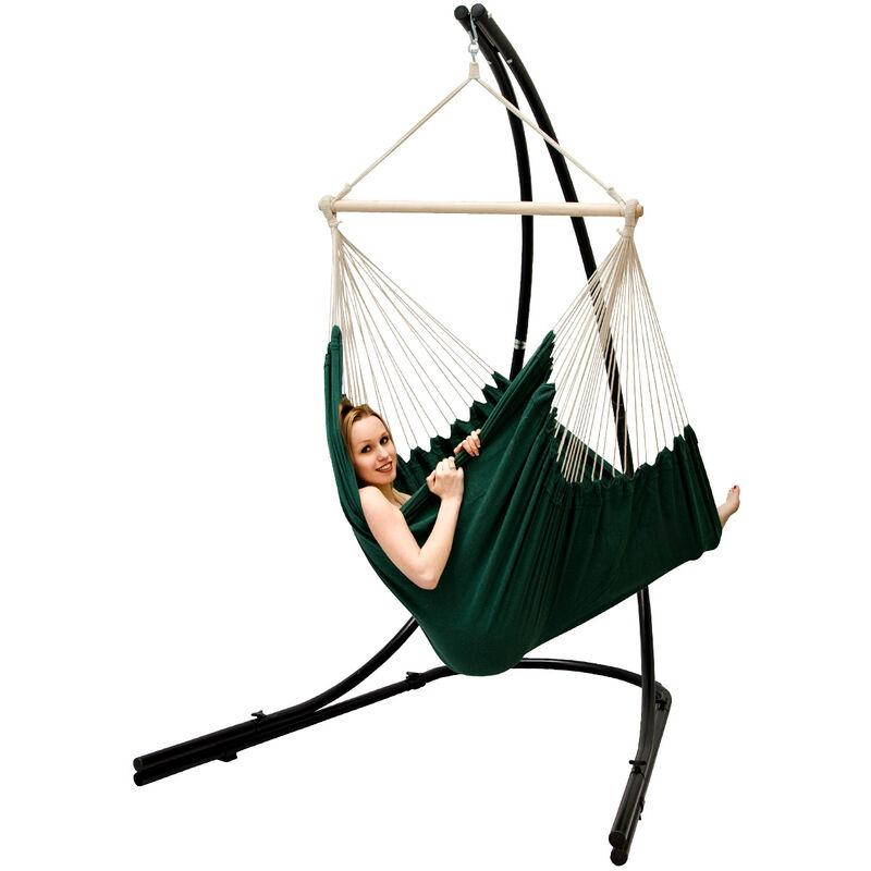 Support Hamac avec Chaise Suspendue XXL Fauteuil de Balancoire 360° Vert