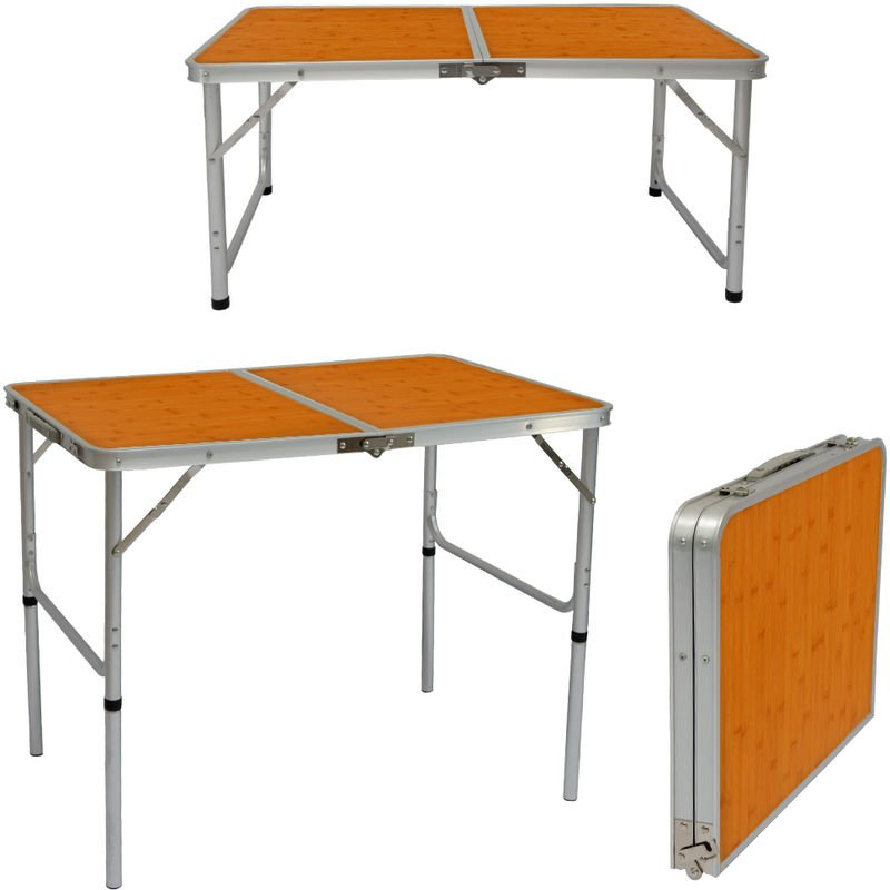 Amanka Table De Camping 90x60cm Portable En Aluminium 3kg Pliante En
