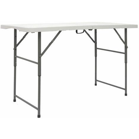 AMANKA Table de Jardin Pliante 120 x 60 cm - Hauteur réglable 110kg Imperméable