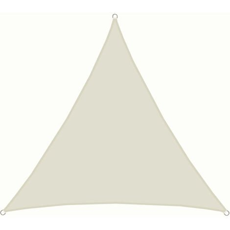 AMANKA Voile d'ombrage 4x4x4m en polyester hydrofuge protection du soleil UPF50+ toile triangulaire XXL ombre jardin Beige