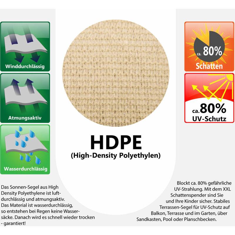 AMANKA Voile d\'ombrage en PE-HD toile rectangulaire de jardin 4x3m ...