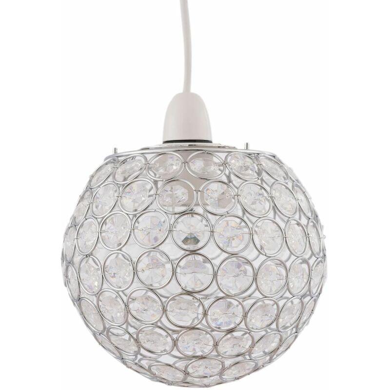 Image of Amber Jewelled Globe Light Shade - FIRST CHOICE LIGHTING