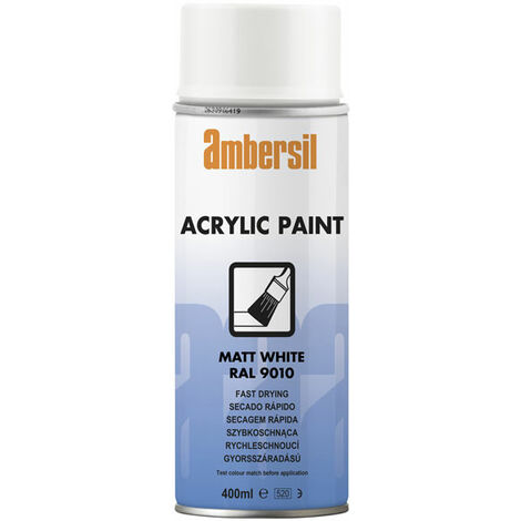 Ambersil 20181-AA Acrylic Paint Matt White RAL 9010 400ml