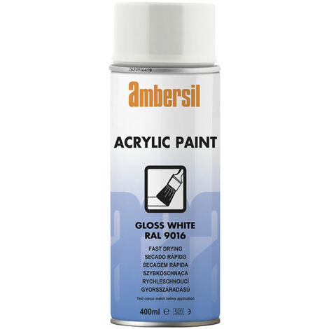 Ambersil 20183-AA Acrylic Paint Gloss White RAL 9016 400ml