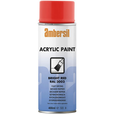 Ambersil 20184-AA Acrylic Paint Bright Red RAL 3002 400ml