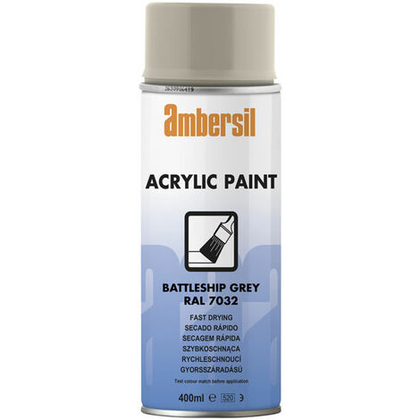 Ambersil 20186-AA Acrylic Paint Battleship Grey RAL 7032 400ml