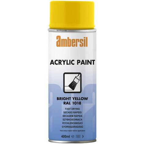 Ambersil 20188-AA Acrylic Paint Bright Yellow RAL 1018 400ml