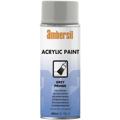 Ambersil 20189-AA Acrylic Paint Grey Primer 400ml