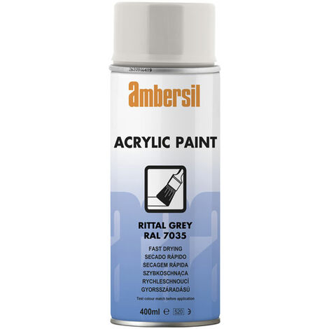 Ambersil 20195-AA Acrylic Paint Light Grey RAL 7035 400ml