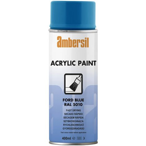 Ambersil 20555-AA Acrylic Paint Ford Blue RAL 5010 400ml