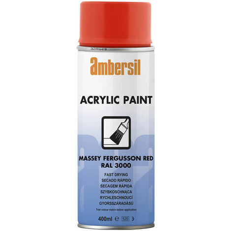 Ambersil 20557-AA Acrylic Paint Massey Flame Red RAL 3000 400ml