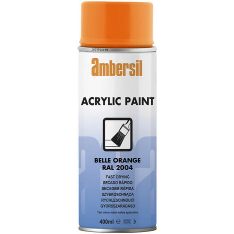 Ambersil 20559-AA Acrylic Paint Pure Orange RAL 2004 400ml