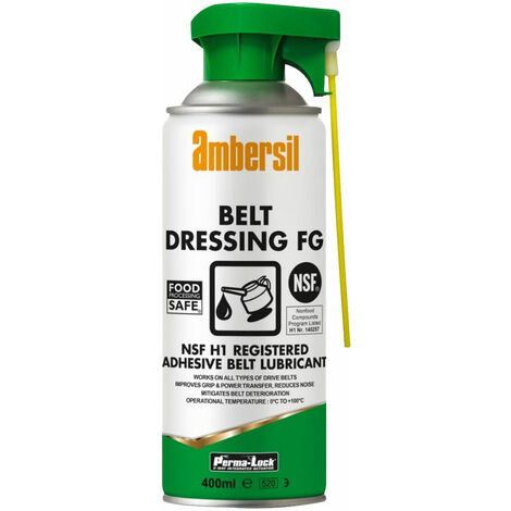 Ambersil 30257-AA Perma-Lock Belt Dressing FG NSF H1 400ml