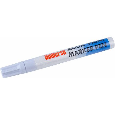 Ambersil 32493-AA Aqua Paint Marker Pen 4mm - White