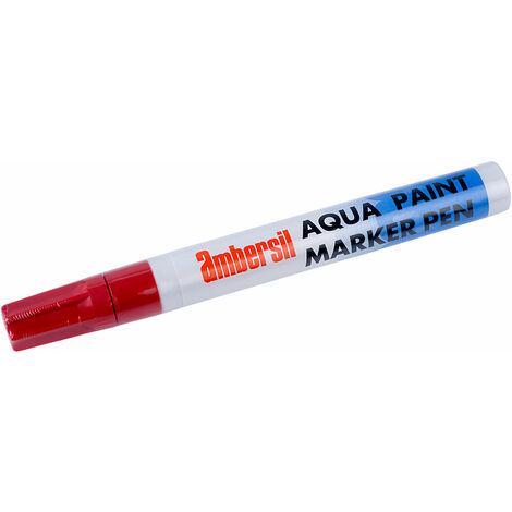 Ambersil 32495-AA Aqua Paint Marker Pen 4mm - Red