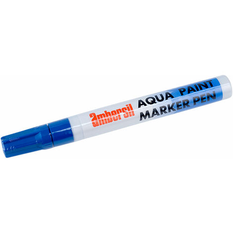Ambersil 32496-AA Aqua Paint Marker Pen 4mm - Blue
