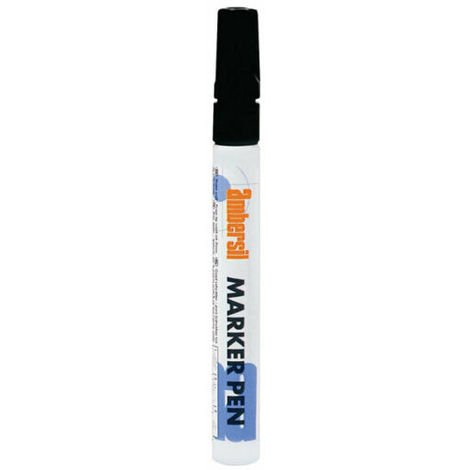 Ambersil Black Acrylic Paint Marker Pen 3mm Fibre Nib 20364