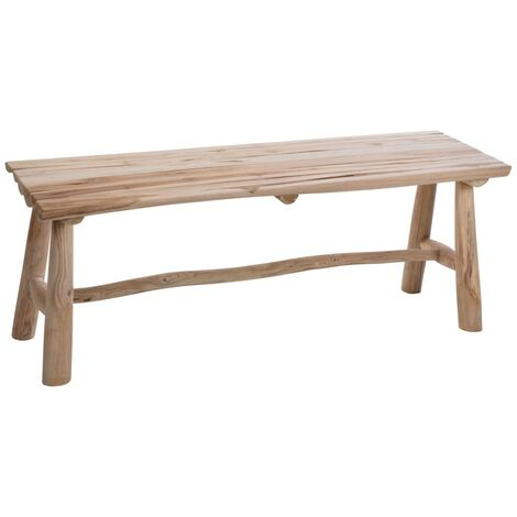 Ambiance Bench Teak Wood 118x35x45 cm - Brown