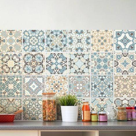 Ambiance-Live Quadretti di cemento adesivo parete–Azulejos–15x 15cm–24pezzi