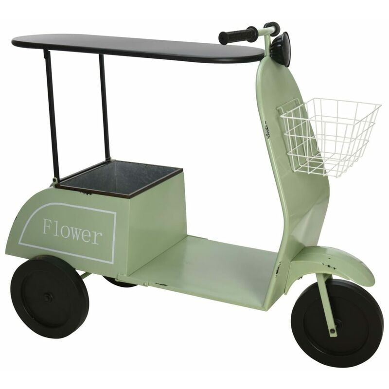 Image of Scooter with Table and Basket Green - Ambiance
