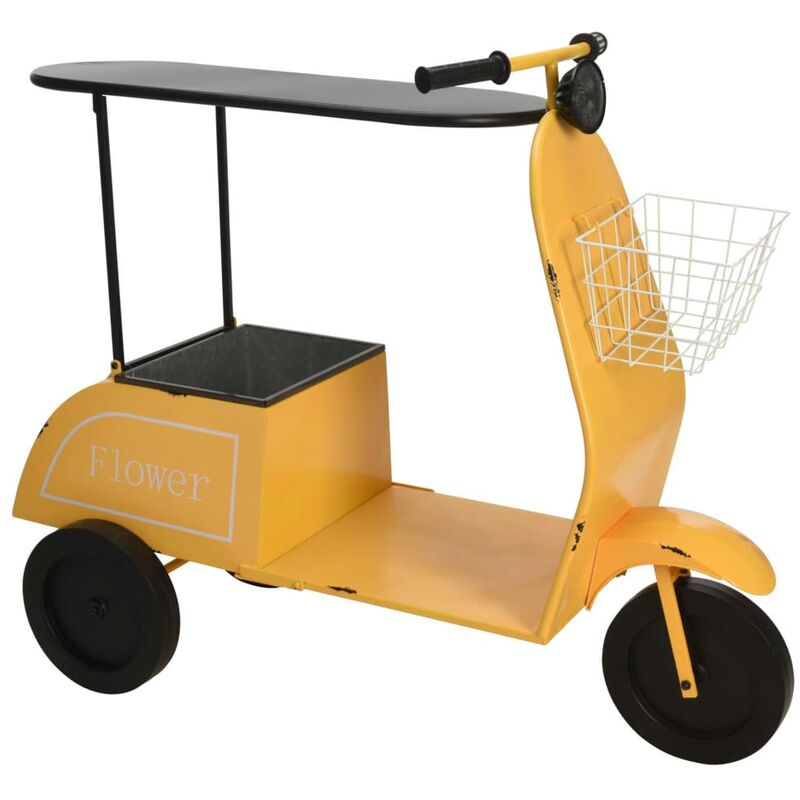 Image of Ambiance Scooter with Table and Basket Yellow