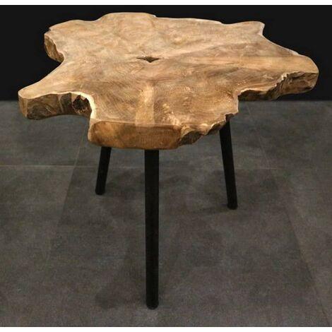 Ambiance Table d'appoint Bois de racine de teck