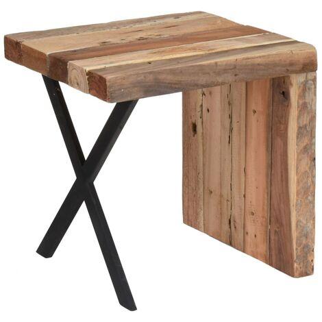 Ambiance Table d'appoint Forme en L Teck 45x40x45 cm
