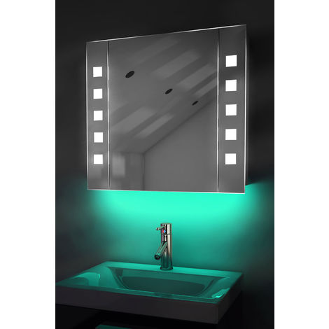 Ambient Bathroom Mirror Cabinet With Sensor & Internal Shaver Socket K16T